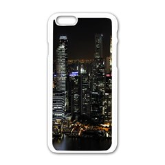 City At Night Lights Skyline Apple iPhone 6/6S White Enamel Case