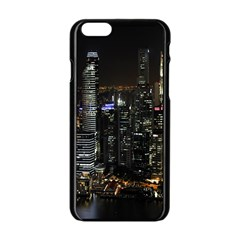 City At Night Lights Skyline Apple iPhone 6/6S Black Enamel Case