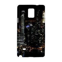 City At Night Lights Skyline Samsung Galaxy Note 4 Hardshell Case