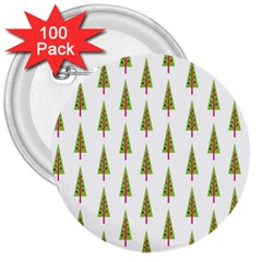 Christmas Tree 3  Buttons (100 pack)