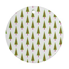 Christmas Tree Round Ornament (Two Sides)