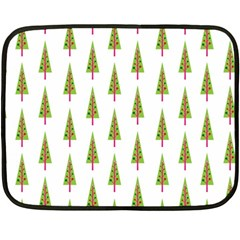 Christmas Tree Double Sided Fleece Blanket (Mini)