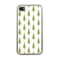 Christmas Tree Apple iPhone 4 Case (Clear)