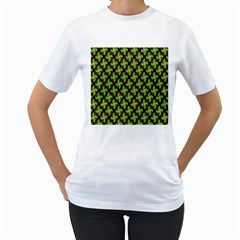 Computer Graphics Graphics Ornament Women s T-Shirt (White) (Two Sided)