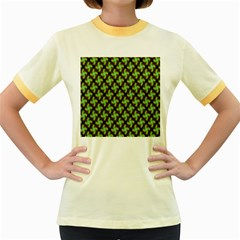 Computer Graphics Graphics Ornament Women s Fitted Ringer T-Shirts