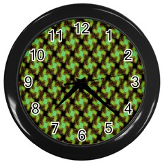 Computer Graphics Graphics Ornament Wall Clocks (Black)