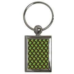 Computer Graphics Graphics Ornament Key Chains (Rectangle)