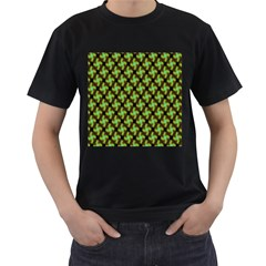Computer Graphics Graphics Ornament Men s T-Shirt (Black) (Two Sided)