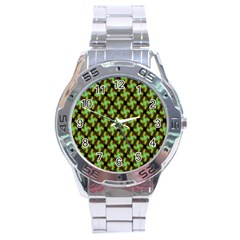 Computer Graphics Graphics Ornament Stainless Steel Analogue Watch