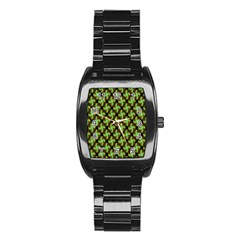 Computer Graphics Graphics Ornament Stainless Steel Barrel Watch