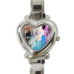 Peelingpaint Heart Italian Charm Watch