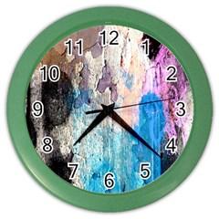 Peelingpaint Color Wall Clocks