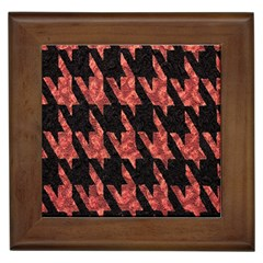 Dogstooth Pattern Closeup Framed Tiles