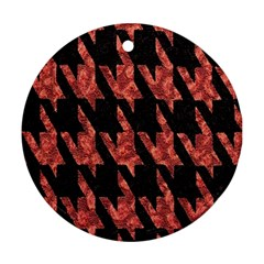 Dogstooth Pattern Closeup Ornament (Round)