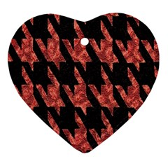 Dogstooth Pattern Closeup Ornament (Heart)