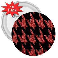 Dogstooth Pattern Closeup 3  Buttons (10 pack)