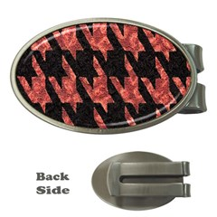 Dogstooth Pattern Closeup Money Clips (Oval)