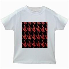 Dogstooth Pattern Closeup Kids White T-Shirts