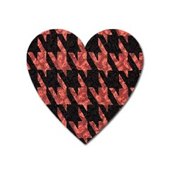 Dogstooth Pattern Closeup Heart Magnet