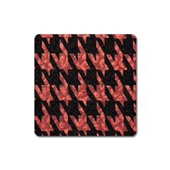 Dogstooth Pattern Closeup Square Magnet
