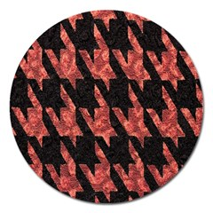 Dogstooth Pattern Closeup Magnet 5  (Round)