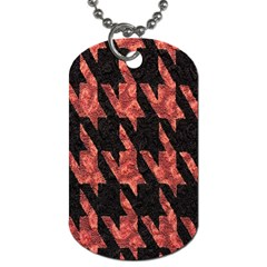 Dogstooth Pattern Closeup Dog Tag (One Side)