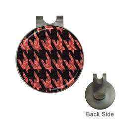 Dogstooth Pattern Closeup Hat Clips with Golf Markers