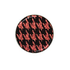 Dogstooth Pattern Closeup Hat Clip Ball Marker (4 pack)