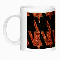Dogstooth Pattern Closeup Night Luminous Mugs