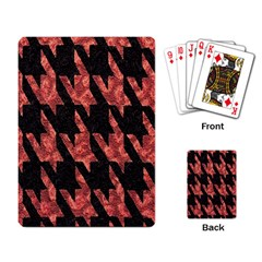 Dogstooth Pattern Closeup Playing Card