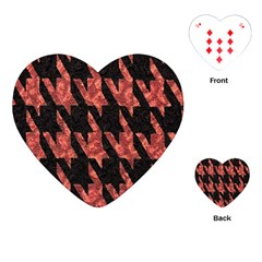 Dogstooth Pattern Closeup Playing Cards (Heart)
