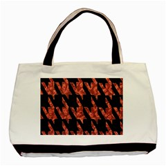 Dogstooth Pattern Closeup Basic Tote Bag (Two Sides)