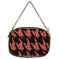 Dogstooth Pattern Closeup Chain Purses (One Side)