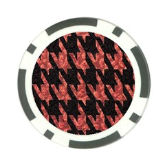 Dogstooth Pattern Closeup Poker Chip Card Guard (10 pack)