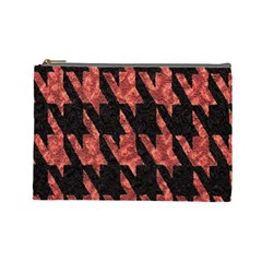Dogstooth Pattern Closeup Cosmetic Bag (Large)