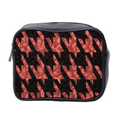 Dogstooth Pattern Closeup Mini Toiletries Bag 2 Side