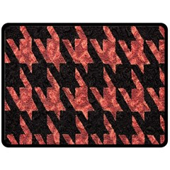 Dogstooth Pattern Closeup Fleece Blanket (Large)