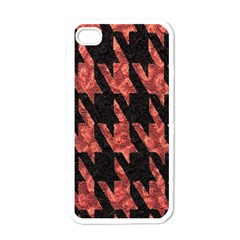 Dogstooth Pattern Closeup Apple iPhone 4 Case (White)