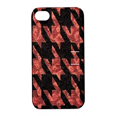 Dogstooth Pattern Closeup Apple iPhone 4/4S Hardshell Case with Stand