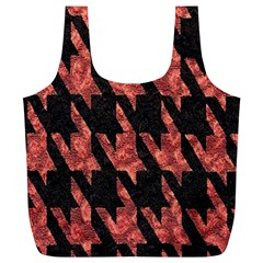 Dogstooth Pattern Closeup Full Print Recycle Bags (l)