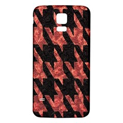 Dogstooth Pattern Closeup Samsung Galaxy S5 Back Case (White)