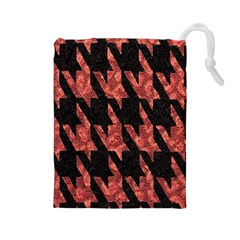 Dogstooth Pattern Closeup Drawstring Pouches (Large)
