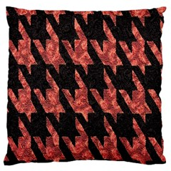 Dogstooth Pattern Closeup Large Flano Cushion Case (Two Sides)