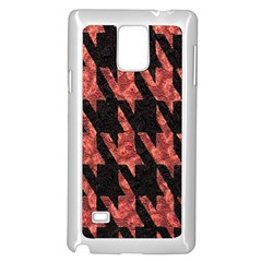 Dogstooth Pattern Closeup Samsung Galaxy Note 4 Case (White)