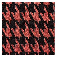Dogstooth Pattern Closeup Large Satin Scarf (Square)