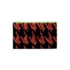 Dogstooth Pattern Closeup Cosmetic Bag (XS)