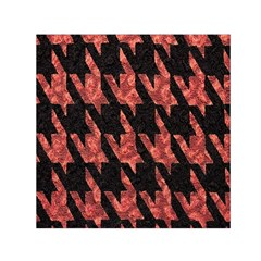 Dogstooth Pattern Closeup Small Satin Scarf (square)