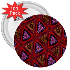 Computer Graphics Graphics Ornament 3  Buttons (100 Pack)