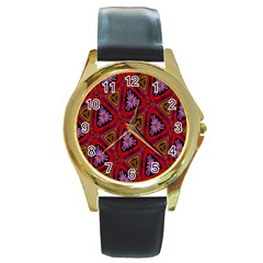 Computer Graphics Graphics Ornament Round Gold Metal Watch