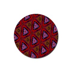 Computer Graphics Graphics Ornament Rubber Round Coaster (4 pack)